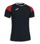 Camiseta Crew III negro, rojo