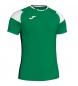 Camiseta Crew III verde, blanco