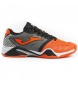 Zapatillas de tenis T.pro roland 908 naranja-negro all court.