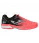 Zapatillas de tenis T.slam lady 908 coral, negro clay