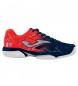 Zapatillas de tenis/padel Slam marino, naranja -Clay-