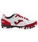 Zapatillas de piel Top Flex 2022 Turf blanco, rojo