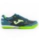 Zapatillas fútbol sala Top Flex 915 azul-verde fluor