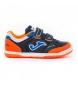 Zapatillas Indoor Top Flex Junior 2053 marino, naranja