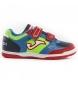 Zapatillas de fútbol Top flex jr 917 royal,rojo velcro indoor