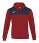Compar Joma  Gagnant du sweatshirt à capuche rouge, marine