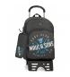 Comprar Maui and Sons Backpack with trolley + school case Shaka grey -33x44x13.5cm