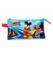 Estuche tres compartimentos Lets Roll Mickey -22x12x5cm-