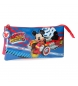 Estuche tres compartimentos World Mickey -22x12x5cm-