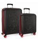 Compar Mickey Set of rigid Mickey Colored suitcases 55-68cm black