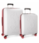 Compar Mickey Set of rigid Mickey Colored suitcases 55-68cm white