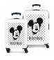 Juego de maletas Mickey Mouse rígidas 34 L / 70L  en azul -38x55x20 / 48x68x26cm-
