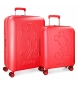 Compar Mickey Set de valises rigides Mickey Premium 55-68cm rouge
