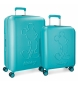Compar Mickey Set of rigid Mickey Premium suitcases 55-68cm green