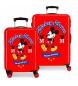 Juego de Maletas Mickey rígidas 34 L / 70L The one en rojo -38x55x20 / 48x68x26cm-