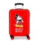 Maleta de cabina Mickey letras rígida 55cm roja 34L / -38x55x20cm-