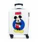 Maleta de cabina rígida Mickey Enjoy the Day Blue -36x55x20cm-
