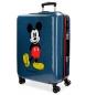 Maleta mediana Mickey Blue rígida -46x69x26cm 4R-