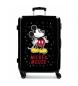 Maleta mediana Mickey letras rígida 68cm negra 70L / -48x68x26cm-