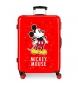 Maleta mediana Mickey letras rígida 68cm roja 70L / -48x68x26cm-