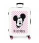 Maleta mediana Mickey Mouse rígida 68cm rosa 70L / -48x68x26cm-