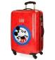 Maleta mediana rígida Hello Mickey rojo -44x68x26cm-