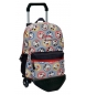 Mochila con carro Mickey Circles multicolor -30x40x16cm-