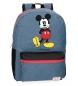 Mochila Mickey Blue -32x42x16cm-