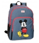 Mochila Mickey Blue  -32x42x16cm doble compartimento-