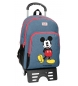 Mochila Mickey Blue -32x42x16cm doble compartimento con carro