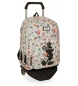 Mochila Mickey True Original doble compartimento con carro -32x44x22cm-