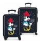 Comprar Minnie Valigie rigide Minnie 70L / 34L Rock Dots blu -38x55x20 / 48x68x25cm-