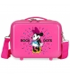 Neceser ABS Minnie Rock Dots Fucsia  -29x21x15cm-
