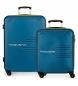Juego de 2 maletas  rígidas 55-69 Movom Flash azul marino -55x40x20cm / 69x49x28cm-
