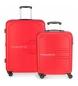 Juego de 2 maletas  rígidas 55-69 Movom Flash rojo -55x40x20cm / 69x49x28cm-