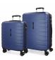 Juego de 2 maletas  rígidas 55-69 Movom Turbo azul -55x40x20cm / 69x49x28cm-