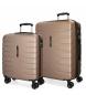Juego de 2 maletas  rígidas 55-69 Movom Turbo champagne -55x40x20cm / 69x49x28cm-