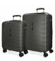 Compar Movom Juego de 2 maletas  rígidas 55-69 Movom Turbo gris -55x40x20cm / 69x49x28cm-