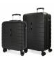 Compar Movom Juego de 2 maletas rígidas 55-69 Movom Turbo Negras -55x40x20cm / 69x49x28cm-