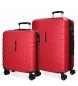 Compar Movom Juego de 2 maletas  rígidas 55-69 Movom Turbo Rojas -55x40x20cm / 69x49x28cm-
