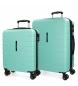 Comprar Movom Juego de 2 maletas  rígidas 55-69 Movom Turbo turquesa -55x40x20cm / 69x49x28cm-
