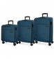 Compar Movom Set of 3 suitcases 36L, 65L and 98L Movom Oslo navy blue -55x40x20cm/69x44x26cm/79x49x30cm