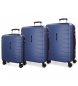 Compar Movom Set of 3 rigid suitcases 55-69-79cm Movom Turbo blue  -55x40x20cm / 69x49x28cm / 79x56x33cm