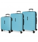 Comprar Movom Juego de 3 maletas rígidas 55-69-79cm Movom Turbo azul celeste -55x40x20cm / 69x49x28cm / 79x56x33cm-