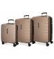 Juego de 3 maletas rígidas 55-69-79cm Movom Turbo champagne -50x40x20cm / 69x49x28cm / 79x56x33cm-