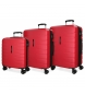 Compar Movom Set of 3 rigid suitcases 55-69-79cm Movom Red Turbo -55x40x20cm / 69x49x28cm / 79x56x33cm