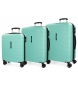 Juego de 3 maletas rígidas 55-69-79cm Movom Turbo turquesa -55x40x20cm / 69x49x28cm / 79x56x33cm-