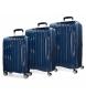 Juego de maletas Movom Fuji Azul Marino rígidas -37L/67L/98L-