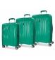 Juego de maletas Movom Fuji Turquesa rígidas -37L/67L/98L-