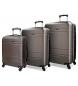Juego de maletas Movom Galaxy rígido 38L/72L/108L antracita -40x55x20cm/48x68x27cm/53x78x31cm-
